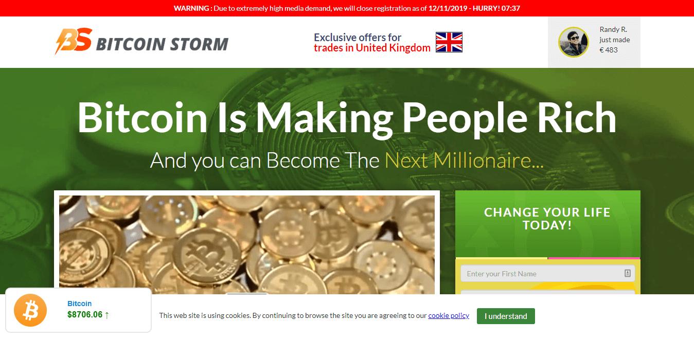 Bitcoin Storm Cách sử dụng Ứng dụng Bitcoin Storm?